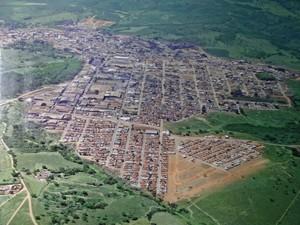 Vista aérea da cidade de Cláudio (Foto: Acervo Prefeitura/Divulgação)
