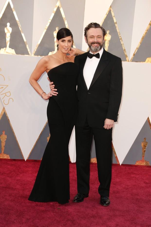 Sarah Silverman e Michael Sheen (Foto: Getty Images)