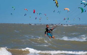 Maranhense de Kitesurf colore céu de São Luís neste fim de semana