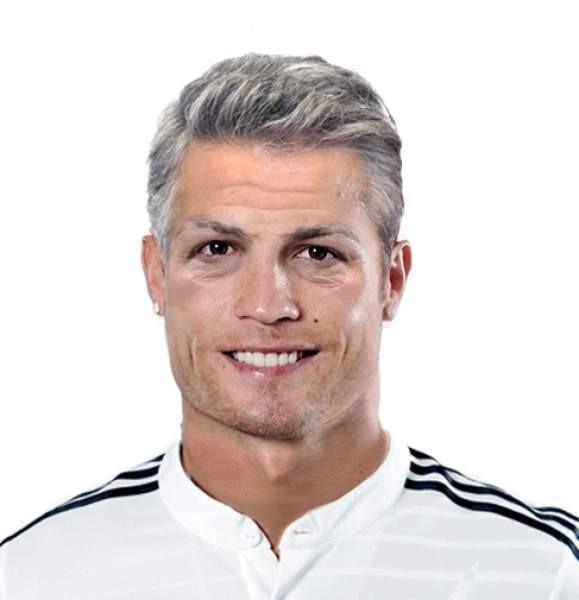 Cristiano Ronaldo envelhecido 55 anos