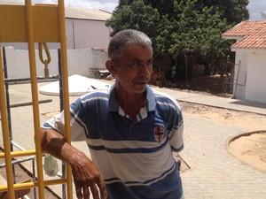 Antônio Antonino trabalhou como pedreiro na obra do Centro de Detenção de Apodi, no RN (Foto: Felipe Gibson/G1)