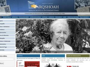 Site reúne acervo e testemunhos colhidos em projeto (Foto: Reprodução/internet)