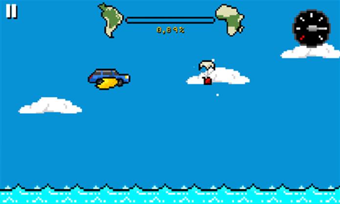 Atlantic Trip é um game brasileiro no qual o jogador deve atravessar o Atlântico (Foto: Divulgação/Windows Phone Store)