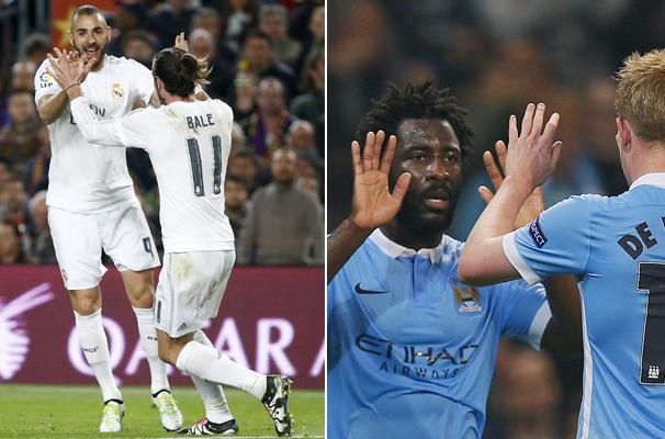 Real Madrid enfrenta o Manchester City pela Champions League (Foto: Reprodução GloboEsporte.com)