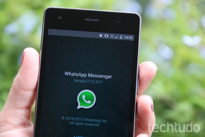 whatsapp android smartphone (Foto: Anna Kellen Bull/TechTudo)