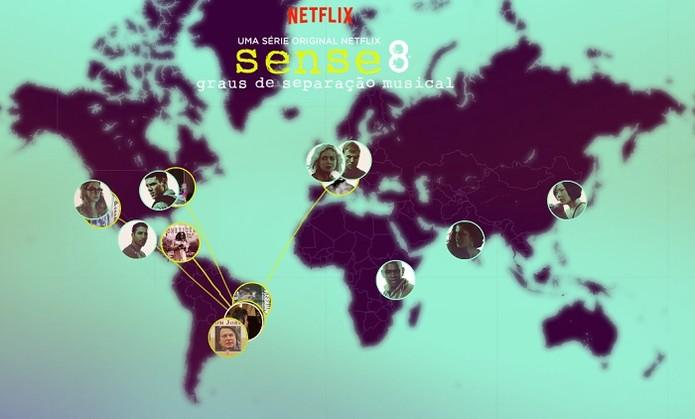 Mapa mostra personagens da série (Foto: Reprodução/Gabriel Ribeiro)