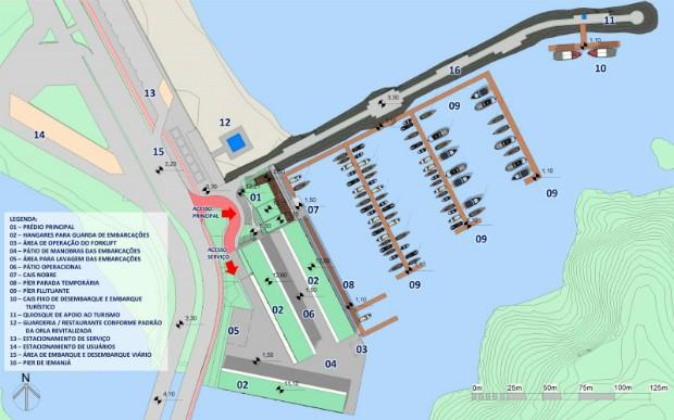 Marina pública pode ser implementada na orla de Camburi, em Vitória (Foto: Divulgação/PMV)