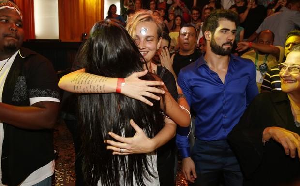 Munik e Juliano Laham na final do 'Big Brother Brasil 16' (Foto: Marcos Serra Lima/ EGO)