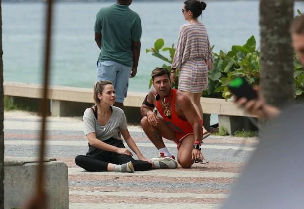 Ana Paula grava com Rodrigo Santanna (Foto: Dilson Silva / Agnews)