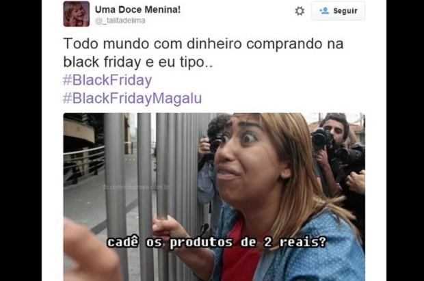 Usuário do Twitter posta piada sobre a Black Friday (Foto: Reprodução/Twitter)