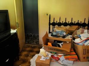 O quarto onde Malhães foi assassinado (Foto:  Luiz Roberto Lima/Extra)