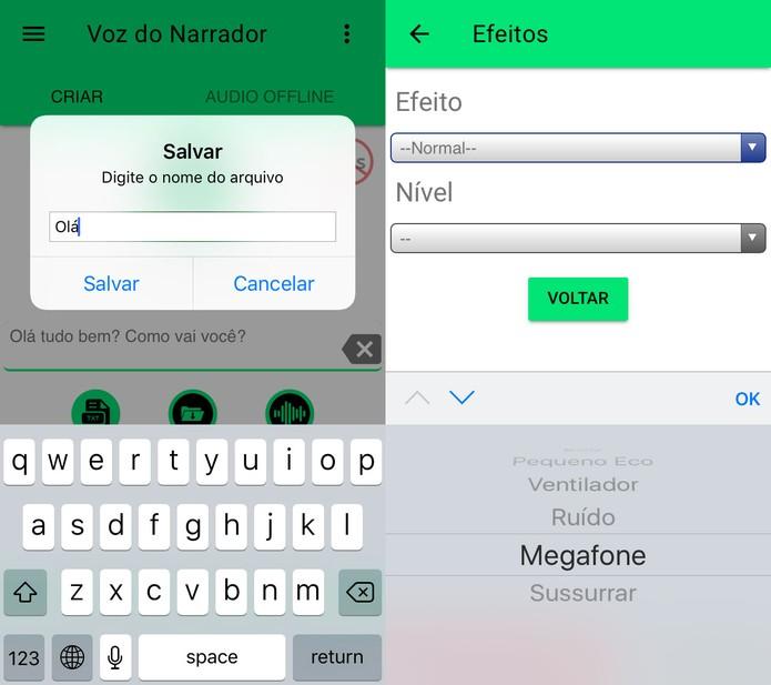 Voz do Narrador te deixa compartilhar em redes e chats (Foto: Reprodução/Felipe Vinha)