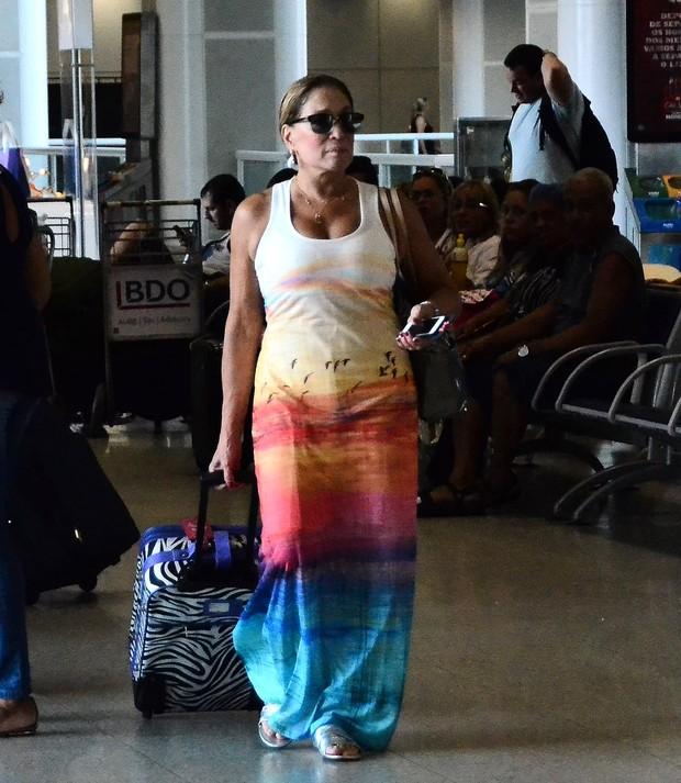 Susana Vieira  no aeroporto Santos Dumont, RJ (Foto: William Oda/AgNewsExclusivo)