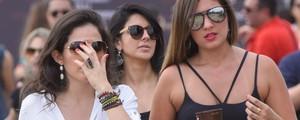 FOTOS: veja os looks e as  belas mulheres do festival (Flavio Moraes/G1)