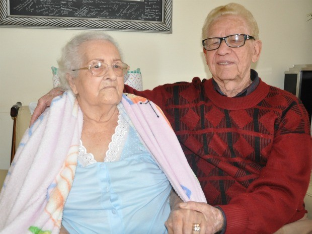 Sebastião e Noêmia estão casados há 70 anos em MS (Foto: Fernando da Mata/G1 MS)