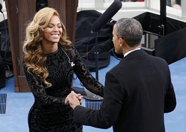Beyoncé na posse de Barack Obama (Foto: AFP)