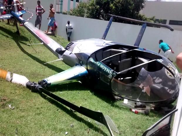 Helicóptero estava com o Certificado de Aeronavegabilidade vencido desde setembro de 2012 (Foto: Rodrigo Galo/ Arquivo Pessoal)