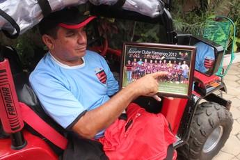 Valdecy Xisto, torcedor do Flamengo (Foto: Abdias Bideh/GloboEsporte.com)