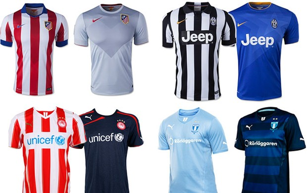As camisas de cada time da Champions  72092c4d79be7