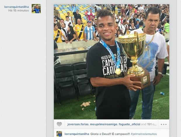Instagram Lorran, Vasco