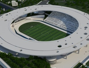 Projeto do Est&#225;dio Estadual Kleber Jos&#233; de Andrade, o novo Kleber Andrade (Foto: Divulga&#231;&#227;o/Sesport)