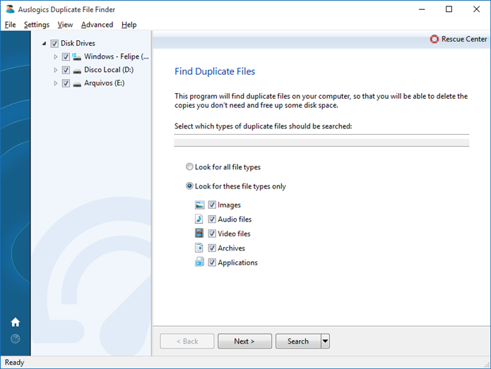 Instale o programa Duplicate File Finder (Foto: Felipe Alencar/TechTudo)