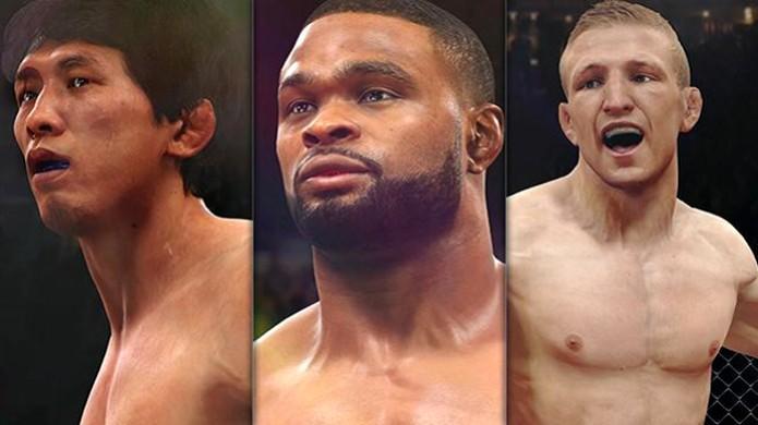 T.J. Dillashaw, Takeya Mizugaki e Tyron Woodley são adicionados por DLC em EA Sports UFC (Foto: Divulgação) (Foto: T.J. Dillashaw, Takeya Mizugaki e Tyron Woodley são adicionados por DLC em EA Sports UFC (Foto: Divulgação))