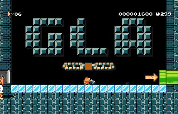 Super Mario Maker ganha fase especial do Mercedes GLA (Foto: Reprodução)
