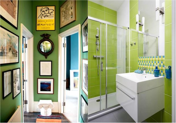 Verde Greenery, tom da Pantone para 2017, invade a decoração (Foto: Reprodução / Luke Edward Hall / Pinterest | Reprodução / Pinterest)