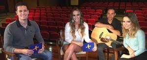 Sandy é entrevistada pela prima Aline e pelo sertanejo Pedro no 'Mais Caminhos' (Reprodução / EPTV)