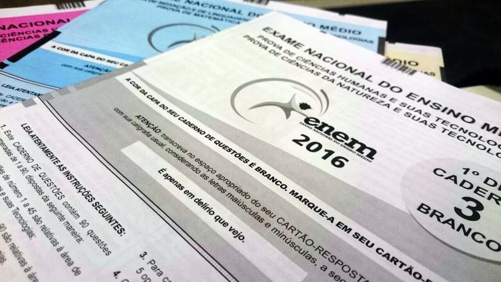 Caderno de prova do Enem 2016 (Foto: )