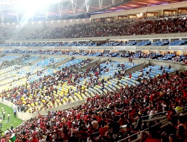 Muitos camarotes ficaram vazios no clássico entre Flamengo e Botafogo (Foto: Vicente Seda)
