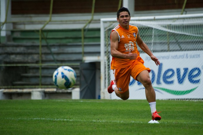 Osvlado no treino do Fluminense nas Laranjeiras (Foto: Bruno Haddad / Fluminense FC)