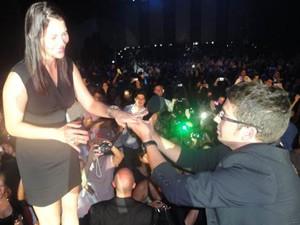 Foto feita pelo próprio cantor Michael Bublé (Foto: Caio Ribeiro Coêlho/VC no G1)
