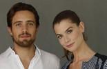 Alinne Moraes e Rafael Cardoso celebram parceria (Estevam Avellar/Globo)