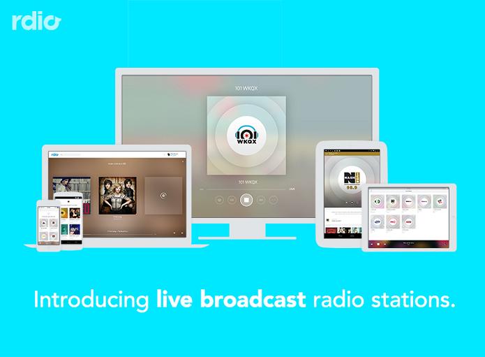 Rdio lançou novo recurso de rádios ao vivo (Foto: Divulgação/Rdio)