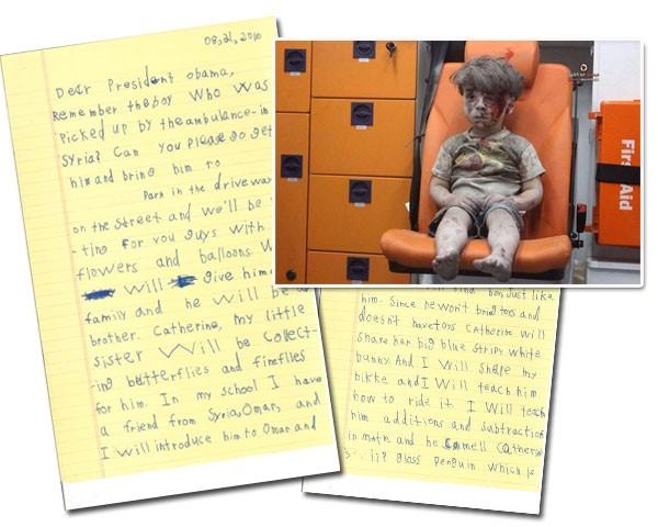 Omran Daqneesh, de 5 anos, foi ferido durante um bombardeio na Síria (Foto: Reprodução)