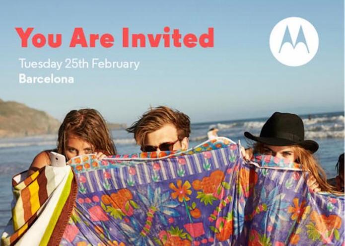 Motorola lança convites para evento no MWC 2014 (Foto: Divulgação)