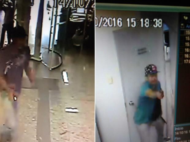 SSP divulgou imagens do grupo que inavdiu e assaltou o banco, no Canela (Foto: Divulgação/Secretaria de Segurança Pública)