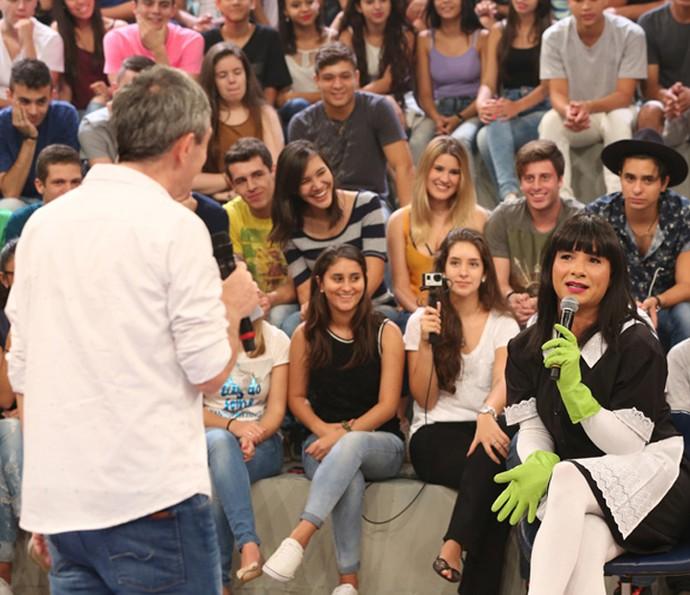 Marco Luque também apresenta a Mary Help (Foto: Carol Caminha/Gshow)