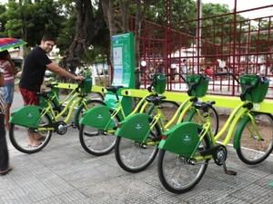 Estação do Bicicletar no Bairro Monte Castelo (Foto: Queiroz Netto/PMF)