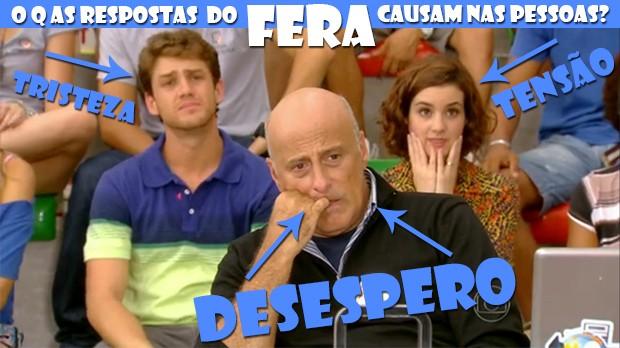 Professores desesperados com as respostas do Fera! (Foto: Malhação / TV Globo)
