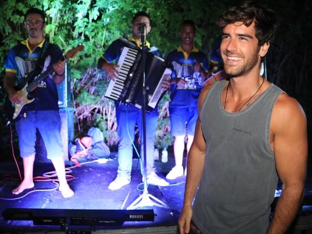 Marcos Pitombo em evento em hotel em Jericoacoara, no Ceará (Foto: Fred Pontes/ Divulgação)