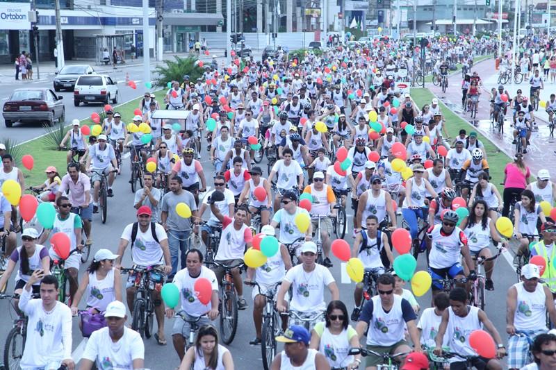 Pedalada sustentável (Foto: Divulgação/ TV Gazeta)