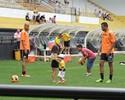 No Dia das Crianças, filhos de atletas do Criciúma vão ao treino dos pais