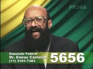 O Dr. Enéas Carneiro durante programa eleitoral (Foto: Reprodução/Youtube)