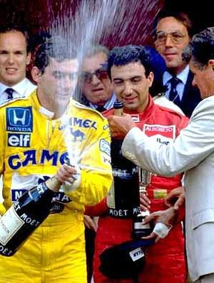 Ayrton Senna pódio Mônaco 1987
