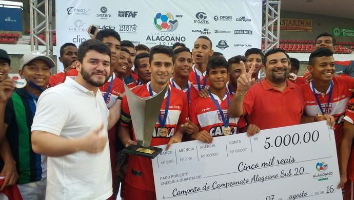 Sete de Setembro 4x3 CRB, final do Alagoano Sub-20 2016 (Foto: Augusto Oliveira / GloboEsporte.com)