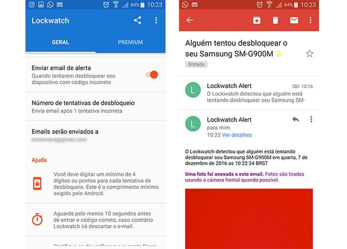 Aplicativo Lockwatch envia foto do intruso para e-mail com localização (Foto: Reprodução/Barbara Mannara)
