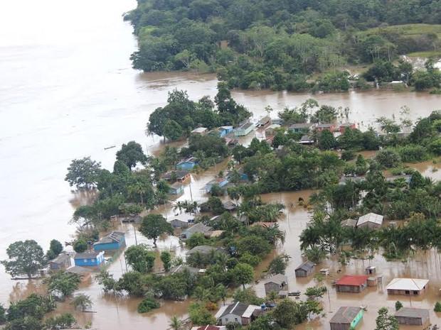 Região dos distritos São Carlos e Nazaré, em Porto Velho (Foto: Corpo de Bombeiros/Divulgação)